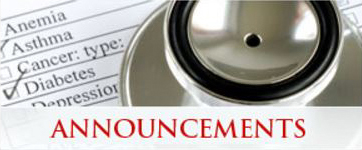 Home Page Announcements